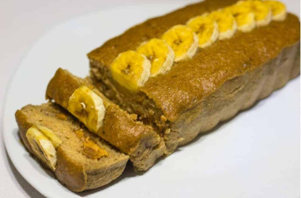vanlife-6 Ingredient Healthy Crockpot Banana Bread with Peanut Butter