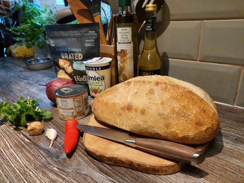 campervan vegan recipe butterbean toast