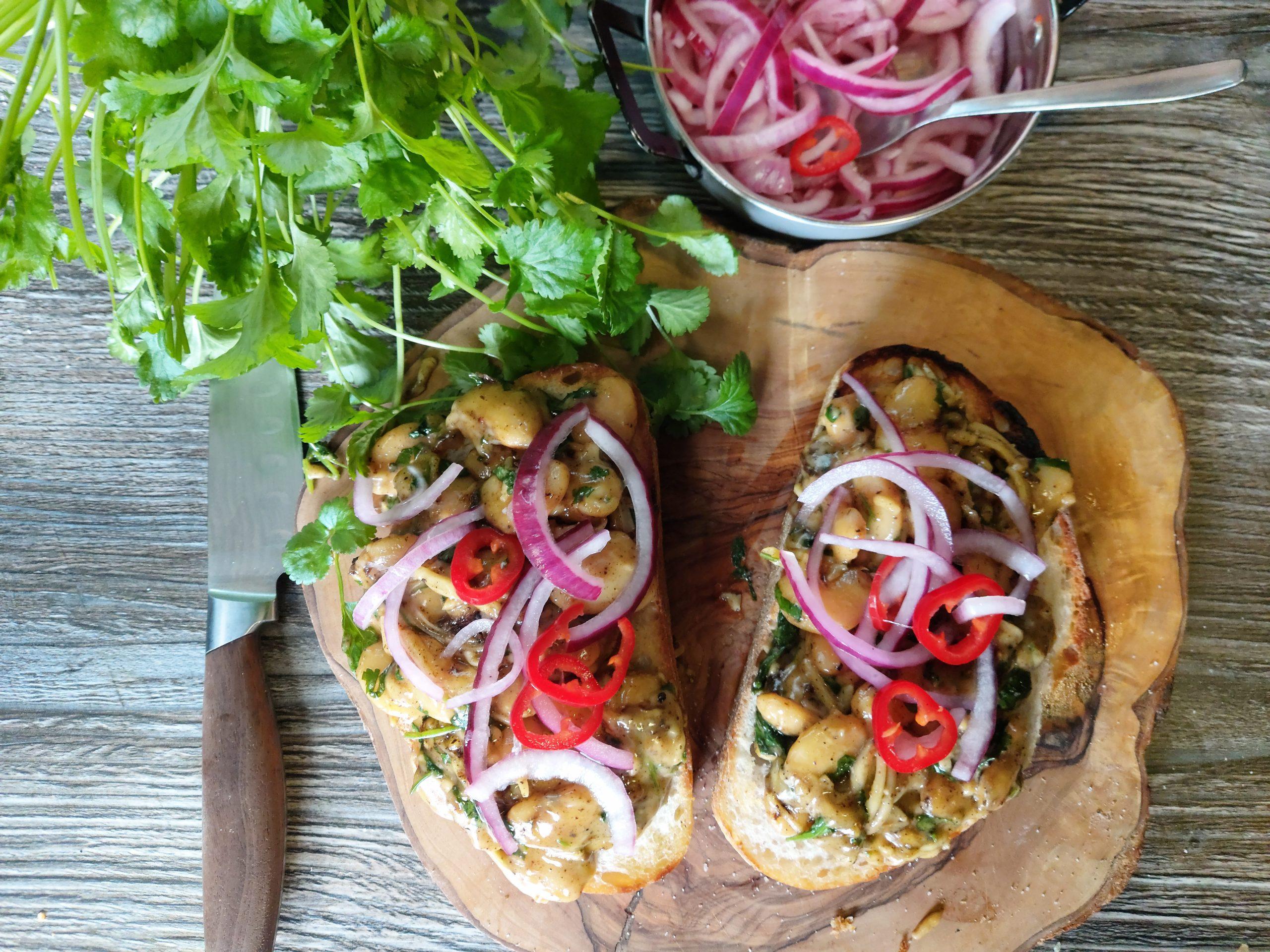 campervan vegan recipe butterbean