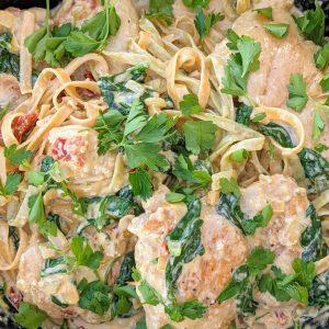 campervan recipe creamy chicken pasta